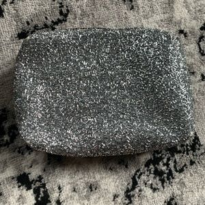 Silver Beaded Small Clutch